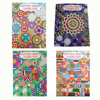 Adult Coloring Book Geometrical Floral, LOT OF 4, for Young & Adults NEW