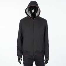 LORO PIANA 2995$ Hooded Bomber Jacket Technical Fabric Storm System & Cashmere M