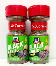 2 X MCCORMICK BLACK GARLIC SALT NET WT 4.25 OZ BB 1/21 New Sealed
