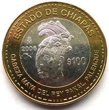Mexico 2006 Chiapas 100 Pesos Bimetal Silver Coin,UNC
