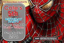 Spider-Man Theme Invitation
