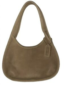 COACH Mini Sonoma Ergo Bag G7B-4399 - Brass - Brown Suede - Excellent Vintage