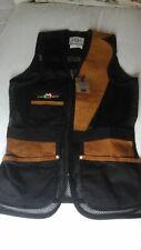 Castellani left handed black clay shooting mesh vest size uk 60