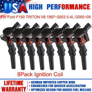 8Pack Ignition Coils For Ford F-150 1997-2003 5.4L 2000-2009 4.6L Crown Victoria