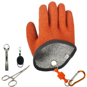 Waterproof Puncture Proof Fishing Glove Professional Catch Fish Gloves 4 tools