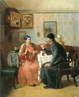 """high quality 20x24 oil painting handpainted on canvas """"Russian Tea Party """""""