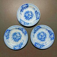 "Vintage V & B Villeroy & Bach Jardiniere Blue & White 3 Small 4 3/4"" Toy Plates"