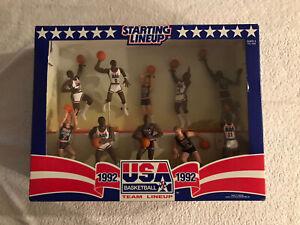 Vintage 1992 Kenner Starting Lineup Basketball USA Olympic Dream Team Figures