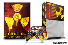 Designer Skin for XBOX ONE S 1S Gaming Console+2 Controller Sticker Decal MLTDWN