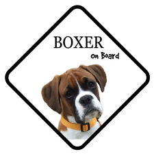 BOXER On Board Car Sign With Sucker Dog Stickers