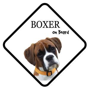 Boxer On Board Autoschild mit Saugnapf Hund Sticker