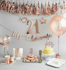 Rose Gold Create Your Own Banner - Backdrop, Bunting, Birthday Party, Decoration