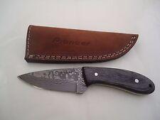 "Pioneer Damascus Steel Hunting Knife Paka Wood,7.5"" Pt-190"