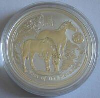 Australien 1 Dollar 2014 Lunar II Pferd Löwe Privy 1 Oz Silber