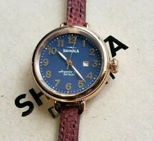 Shinola Birdy Watch 34mm RoseGold & Navy Blue face with Double Wrap Around Band
