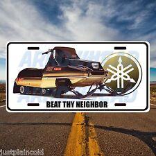 Yamaha vintage snowmobile `Beat thy Neighbor`` style licence plate