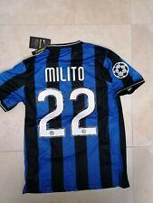 MAGLIA INTER MILITO 22  FINALE CHAMPIONS MADRID 2010 RETRO  JERSEY TRIPLETE