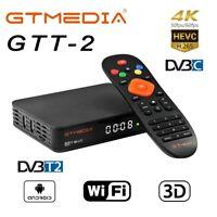 GTMEDIA GTT2 Android Smart TV BOX Media Player Quad Core DVB-T2/C 4K WiFi Medien