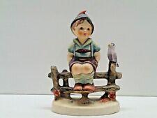 Vintage Goebel Hummel Figurine #1938 111 3/0 Wayside Harmony Boy Bird on Fence