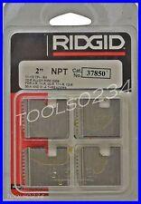 "Ridgid 37850 Pipe Threading Dies 2"" 12R NPT 11-1/2"" TPI Pack of 4 USA MADE"
