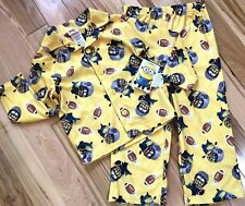 NWT DESPICABLE ME 2 Pc Pajamas Boys 4 MINION FOOTBALL