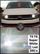 VW T5.1 T6 Transporter LED DRL Headlight Upgrade Bulbs Super Bright 2010+