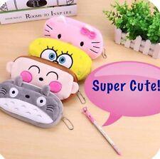 4 Pieces!!!! Bundle Soft Cute Plush Cosmetic Makeup Storage Bag Pen Pencil