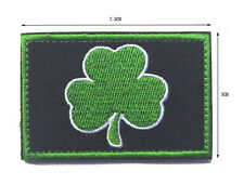 SUBDUED IRISH MILITRAY TACTICAL BLACK OPS  MORALE  EMBROIDERED PATCH  hk  606