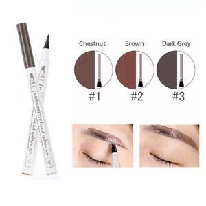 Waterproof 4 Fork Eye Brow Eyeliner Eyebrow Pen Pencil Brush Makeup Cosmetic