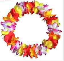 10 Lei Flower Hawaiian Beach Necklace Leis Garland Decorations Crafts Luau Party