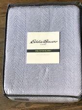 Eddie Bauer Gray 100% Cotton King Blanket