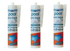 3 MASTIC MS POLYMERE REPARATION PISCINE LINER JOINT ETANCHEITE GEB POOL