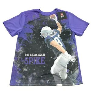 NEW NFL New England Patriots Rob Gronkowski Dry Fit Shirt Youth Size L Large Kid