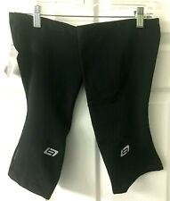 BELLWETHER THERMALDRESS KNEE WARMER SIZE XL Black Cycling Riding New $39 Bicycle