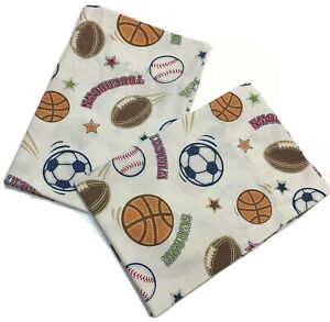 Circo Pillowcase Sports Baseball Basketball Football Soccer Ball Touchdown Goal