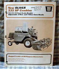 Vintage Oliver Corporation Model 535 SP Combine Advertising Brochure-Ca 1965!
