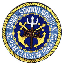 "3.75"" Navy Norfolk Naval Station Virginia Embroidered Patch"