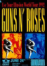 GUNS N' ROSES & SOUNDGARDEN (Cancelled) - Ghent 1992 Music Concert Poster Art