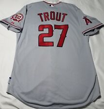 AUTHENTIC MAJESTIC 52 2XL, LOS ANGELES ANGELS MIKE TROUT ROOKIE COOL BASE Jersey