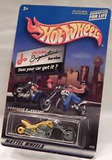 Hot Wheels Jiffy Lube Blast Lane Yellow Tan Seat Motorcycle Wheels