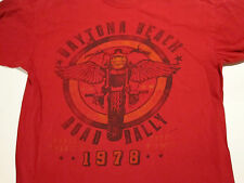 Sz XL Daytona Beach Road Rally 1978 T-shirt Red Motorcycle florida Biker Chopper