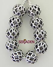 10 Chain Link Light Weight Spacers Fits European Charm Bracelet / Necklaces S047