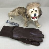 NOS Jacques Carpentier Vintage Men's Gloves Brown One Size Fits All