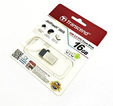 Transcend Jetflash 380S OTG USB2.0 Flash Drive 16GB - Silver Edition #7054