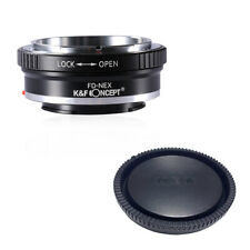 K&F Adapter with lens cap  for Canon FD Lens to Sony E Camera NEX a7R2 A7M3 A7S