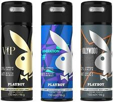 Playboy Playboy Vip + Generation + Hollywood Deo Combo Set -Pack Of 3 Mens,450ML