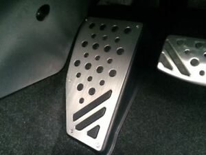 MITSUBISHI LANCER EVOLUTION X OEM GENUINE ALUMINUM FOOT REST PEDAL COVER KIT SST