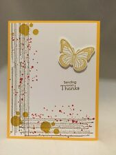 "Card Kit Set Of 4 Stampin Up Gorgeous Grudge Hello Honey ""Thanks"""