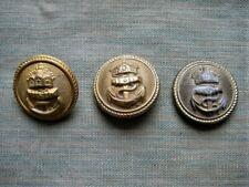 20er Set Knöpfe für Hosen Anzüge Taschen in gold Militär Uniform Zubehör SELTEN