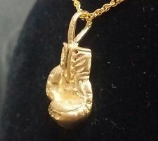 14 K  Solid Gold Boxing Glove Charm / Pendant for Sport Lovers